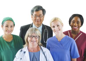 Image of hospital staff - A partner for your professional life